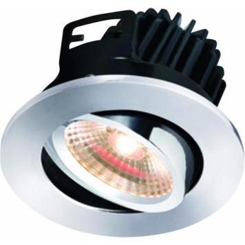 KnightsBridge FireKnight Tilt 7W IP20 LED Downlight With Chrome Bezel - Warm White