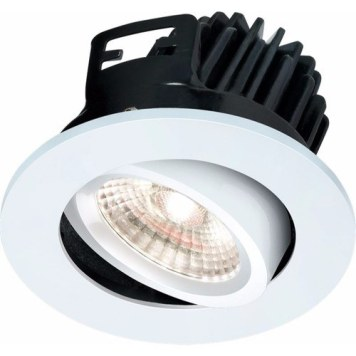 KnightsBridge FireKnight Tilt 7W IP20 LED Downlight With White Bezel - Cool White