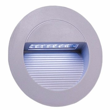 KnightsBridge IP44 Round 14 White LED Recessed Stair & Wall Guide Light - White