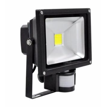 Lighthouse IP65 Ultra Efficient LED Black Aluminium PIR Floodlight - 20 Watt