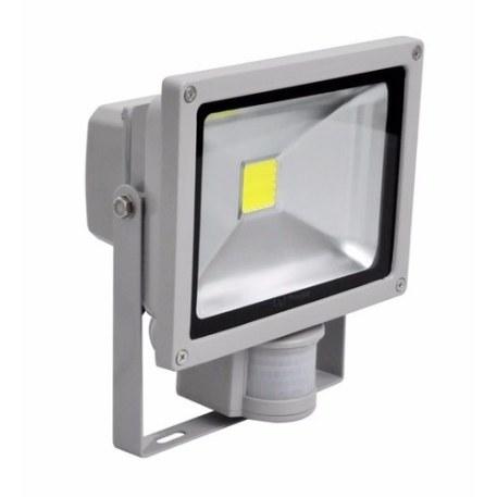 Lighthouse IP65 Ultra Efficient LED Grey Aluminium PIR Floodlight - 20 Watt