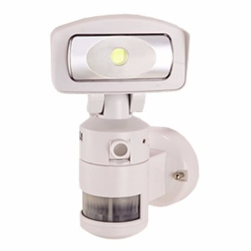 NightWatcher LED Robotic Security Light with HD Camera - White