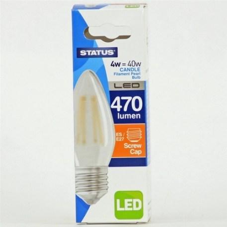 Status 4W Candle LED Pearl Filament Bulb - ES