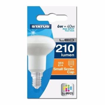 Status 6W R50 LED Small Edison Screw Reflector Bulb