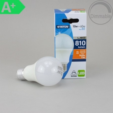 Status LED 10W Dimmable Pearl GLS Lamp - ES