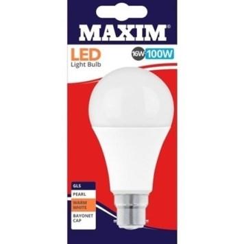 Status Maxim 16W LED BC GLS - Warm White