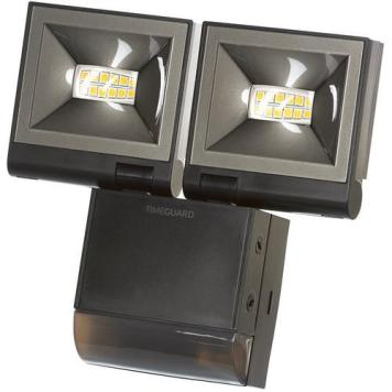 Timeguard 2 x 10W LED Compact PIR Floodlight - Black