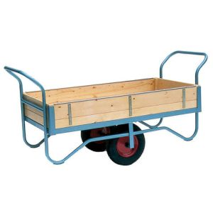 Barton Storage Barton Storage BT/9112/CT/RB Double Handle Four Sided Trolley With Rubber Wheels
