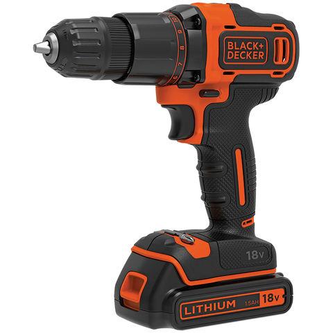 Black & Decker Black & Decker BCD700S1K-GB 18V 2-Gear Hammer Drill