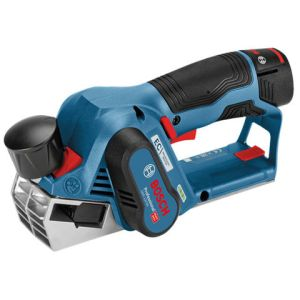 Bosch Bosch GHO 12 V-20 Professional Brushless 12 V Planer with 2x3Ah Batteries, Charger and L-Boxx