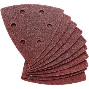 Clarke Clarke 10 Pack of 90mm Delta Triangle Hook and Loop Sanding Sheets - 60 Grit