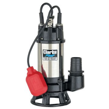 "Clarke Clarke HSEC650A 2"" 665W 290Lpm 6.5m Head Industrial Submersible Dirty Water Cutter Pump with Float Switch (230V)"