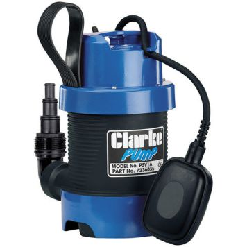 "Clarke Clarke PSV1A 1¼"" 335W 140Lpm 5.8m Head Dirty Water Submersible Pump (230V)"