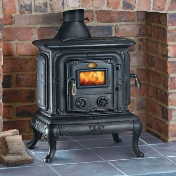 Clarke Clarke Parlour Cast Iron Wood Burning Stove