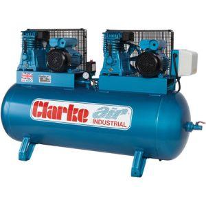 Clarke Clarke XE29/270 (OL) 28cfm 270Litre 2x3HP Industrial Air Compressor (230V)