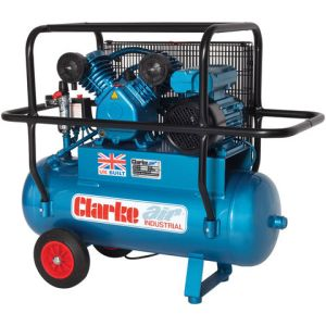 Clarke Clarke XEPVH16/50 (OL) 14cfm 50Litre 3HP Portable Industrial Air Compressor with Cage (230V)