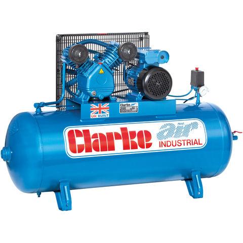 Clarke Clarke XEV16/200 (OL) 14cfm 200Litre 3HP Industrial Air Compressor (230V)