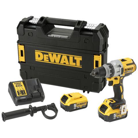 DeWalt DeWalt DCD991P2-GB 18V XR Brushless 3 Speed Drill/Driver with 2x 5Ah Li-Ion Batteries