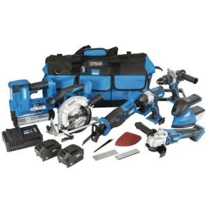 Draper Draper *12/D20 D20 11 Piece 20V Jumbo Power Tool Kit with 1 x 3Ah 1 x 5Ah Batteries and Charger