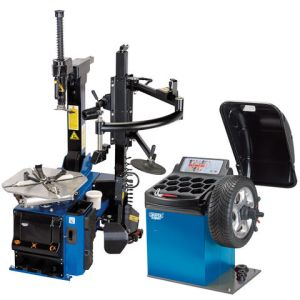 Draper Draper TC200/WB100 Tyre Changer with Assist Arm and Wheel Balancer Kit