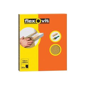 Flexovit Glasspaper Sanding Sheets 230 x 280mm Grade 2.5 (25)