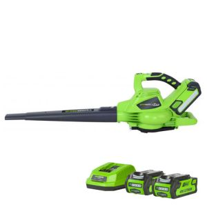 Greenworks Greenworks GWGD40BVK2X 40V Brushless blower with 2 x 2Ah Batteries and Charger
