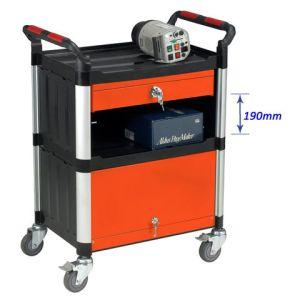 Machine Mart Xtra Barton Storage WHTT3SS/CAB 3 Shelf Trolley With Drawer And Cabinet