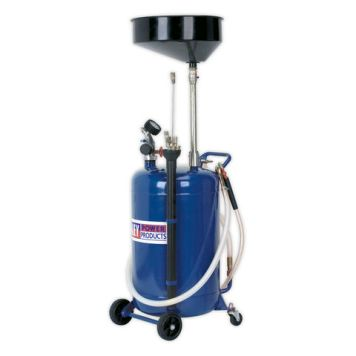 Machine Mart Xtra Sealey AK459DX Mobile 90L Oil Drainer with Probes and Air Discharge