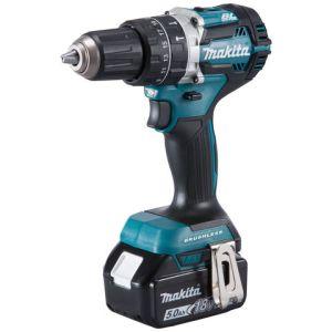 Makita Makita DHP484RTJ 18V LXT BL Brushless Cordless Hammer Drill/Driver with 2 x 5Ah Batteries