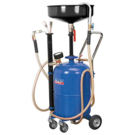 Sealey Sealey AK456DX 35L Air Discharge Mobile Oil Drainer with Probes