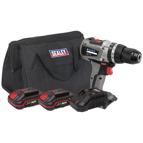 Sealey Sealey CP20VDDXKIT Brushless Hammer Drill/Driver Kit Ø13mm 20V - (2 Batteries, Charger & Bag)