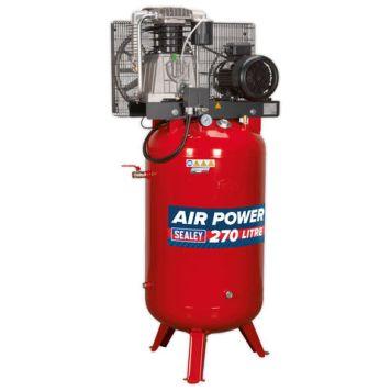 Sealey Sealey SACV52775B 29.3cfm 270Litre 7.5HP Vertical Belt Drive Air Compressor (400V)