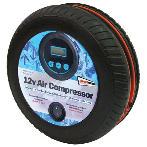 Streetwize Streetwize Tyre Shape 250psi Digital Air Compressor