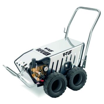 V-TUF V-TUF Heavy Industrial Stainless Mobile Cold Pressure Washer 120 BAR @ 11L/Min (230V)