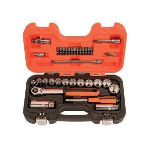 Bahco SL34 3/8in Drive Socket & Mech Set of 34 Metric