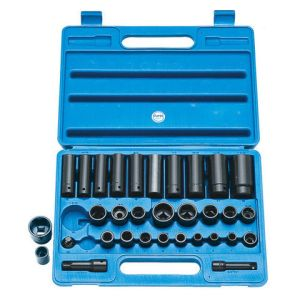 "Clarke Clarke CIS9/32 32 Piece Heavy Duty 3/8"" & 1/2"" Impact Socket Set Metric/AF"