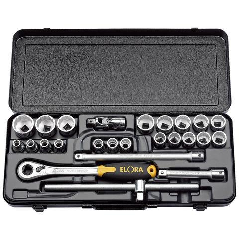 "Draper Elora 770-OKLMU 1/2"" Drive Metric Socket Set (25 Piece)"