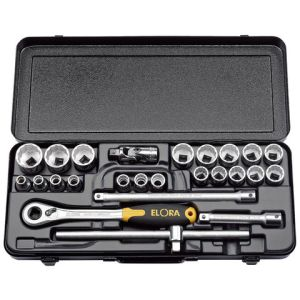 "Draper Elora 770-OKLMU 1/2"" Drive Metric Socket Set (25 Piece)"