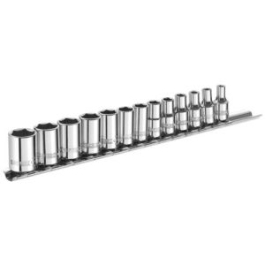 "Facom Expert by Facom 1/4"" Drive 13 Piece Metric Sockets on Rail 4 - 14mm"