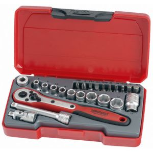 Teng Teng T1424 1/4'' Drive Metric Socket Set 24 Piece