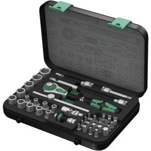 "Wera Wera 8100Sa2 Socket Set 1/4"" Drive Metric Zyklop 42 Pieces"