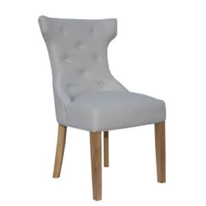Lancelot Winged Button Back Dining Chair Natural