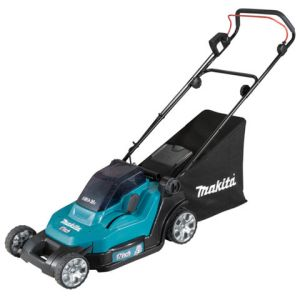 Makita Makita DLM432PG2 Lawn Mower 43cm (with 2x 6.0Ah Batteries & DC18RD Twin Port Charger)