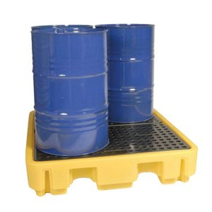 2 Drum Spill Pallet Yellow 250 litre capacity