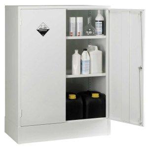 Acid Storage Cabinet / Cupboard 915h x 915w x 460d 2 Door 1 Shelf