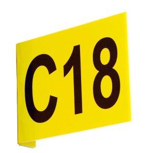 Aisle Marker Signs C/W Digits Flat 220h x 270w inc 1 Digit