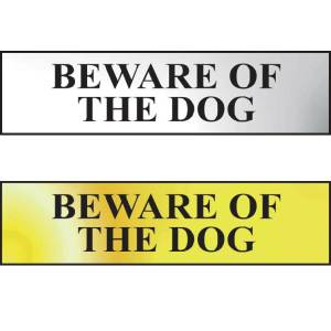 Beware Of The Dog Sign - POL (200 x 50mm)