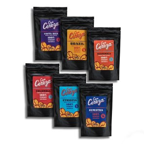 Cafe Cereza Coffee Beans from Around the World 100g (6 Pack)
