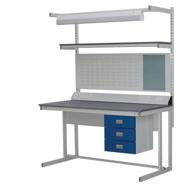 Cantilever Workbench - Laminate top - 1200w x 750d