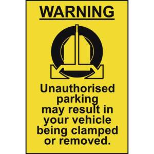 Clamping Warning Sign - Self Adhesive Sticky Sign (200 x 300mm)
